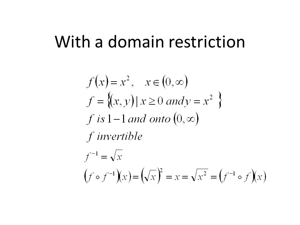 With a domain restriction