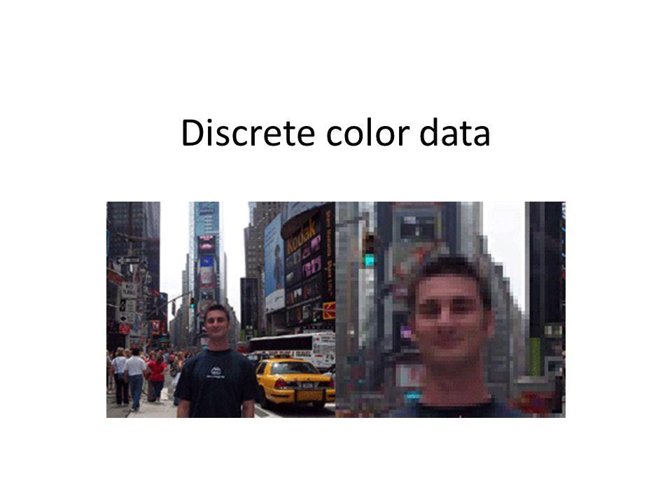 Discrete color data