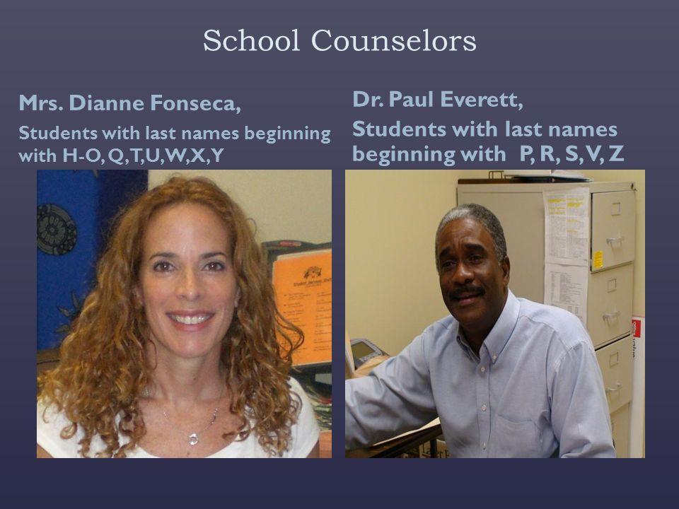 School Counselors Mrs.