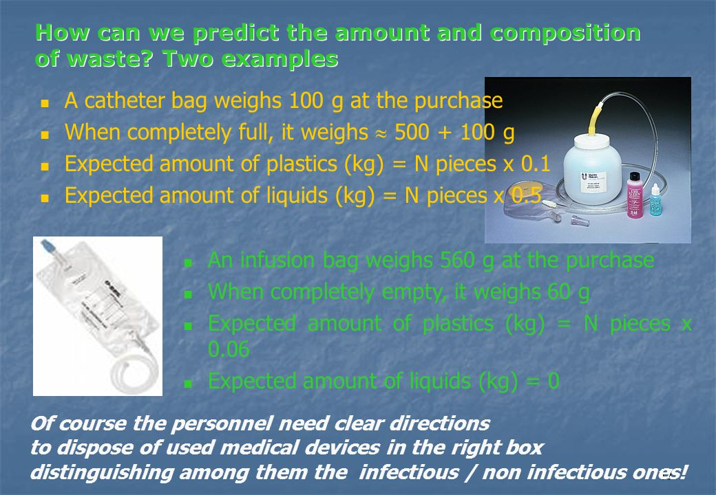 17 How can we predict the amount and composition of waste.