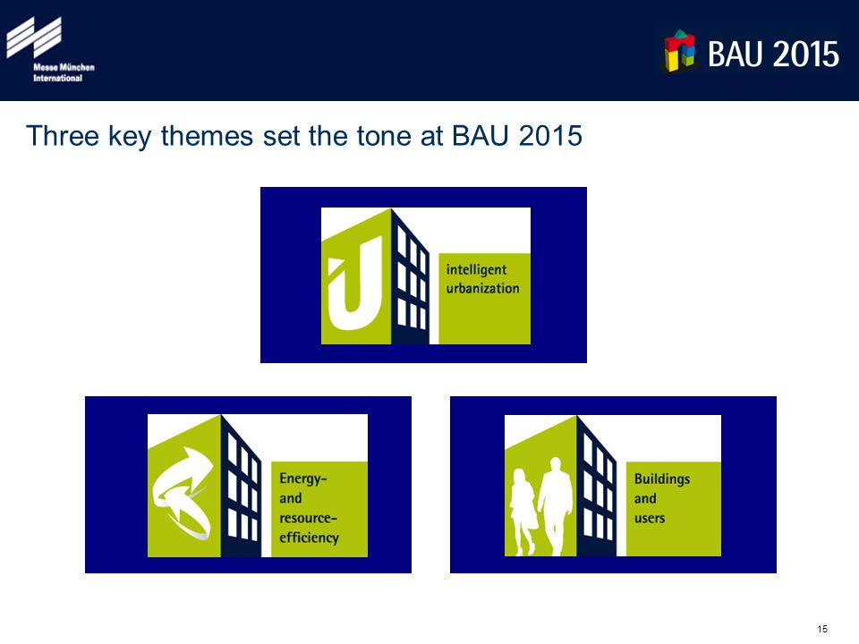 15 Three key themes set the tone at BAU 2015
