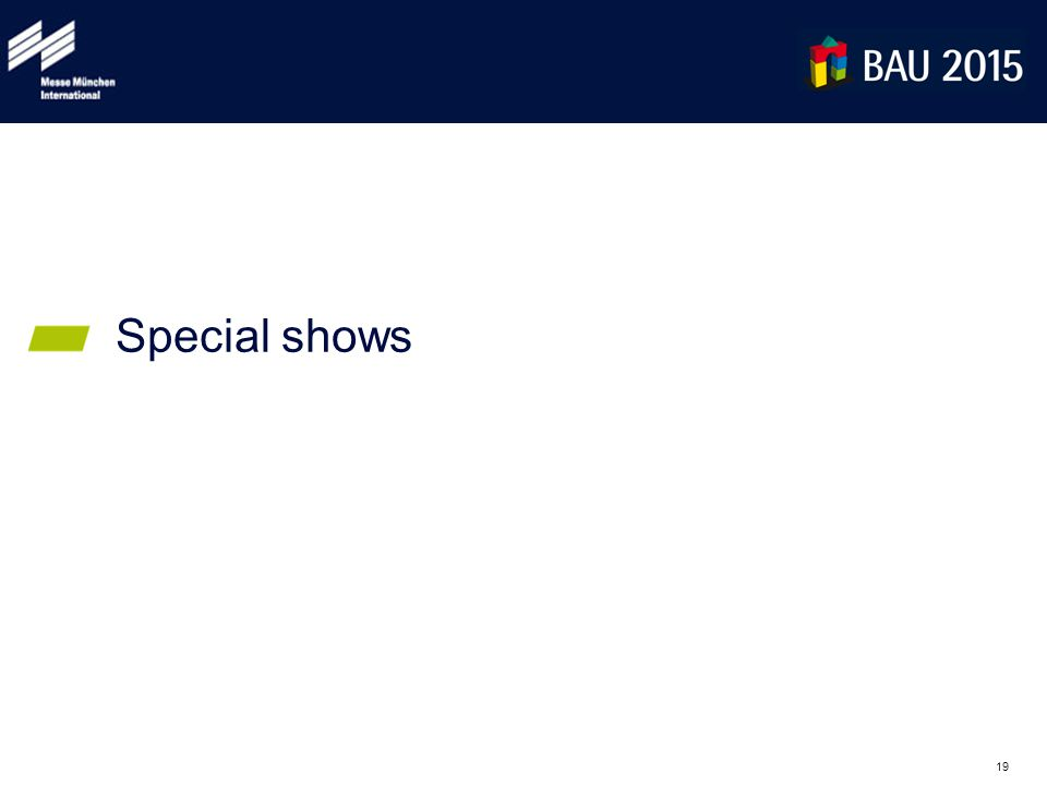 19 Special shows