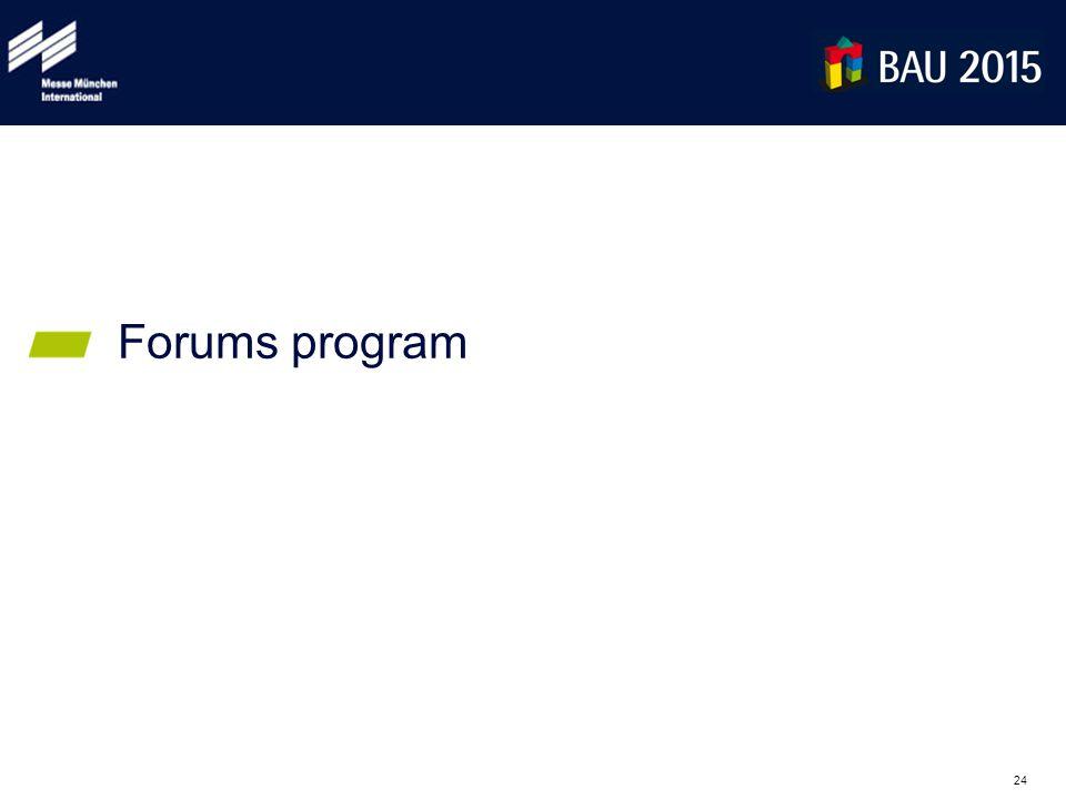 24 Forums program