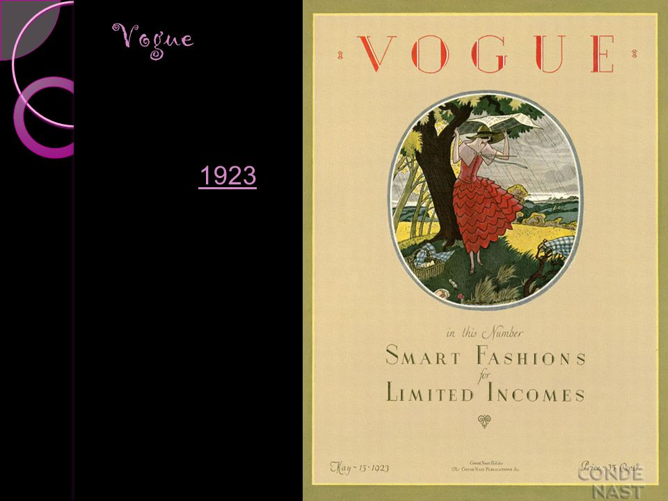 Vogue Covers 1910s Vogue 1923