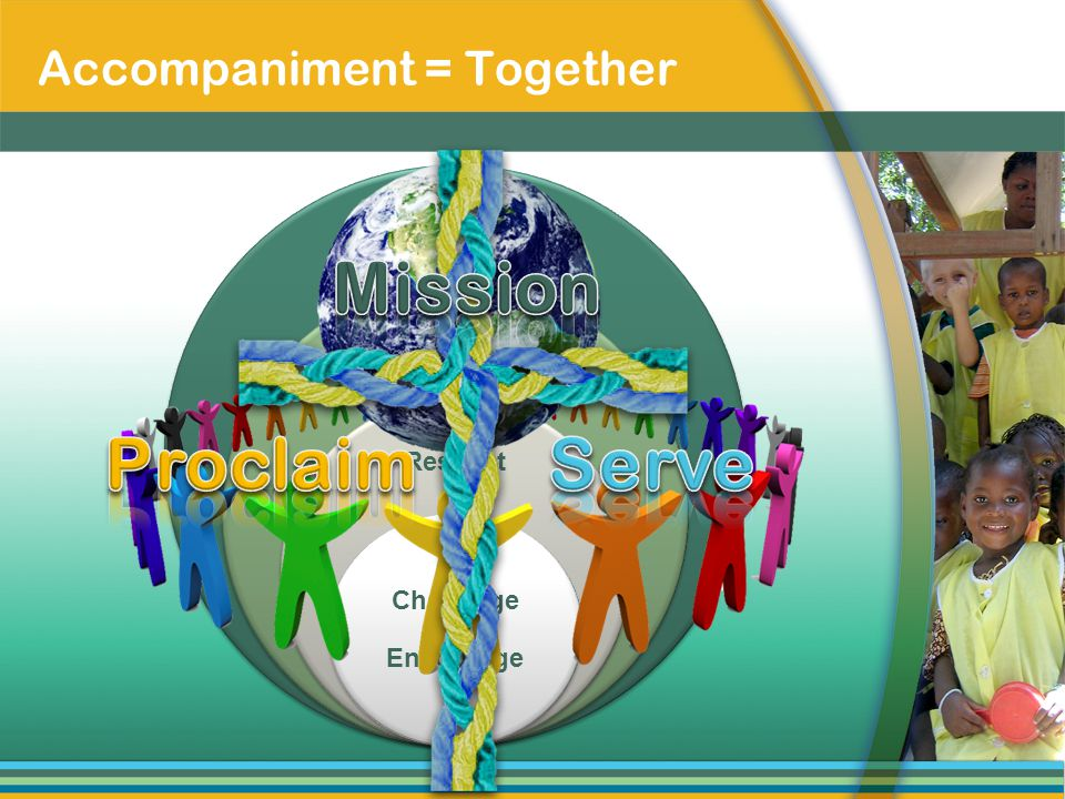 Accompaniment = Together Faith Mutuality Respect Challenge & Encourage