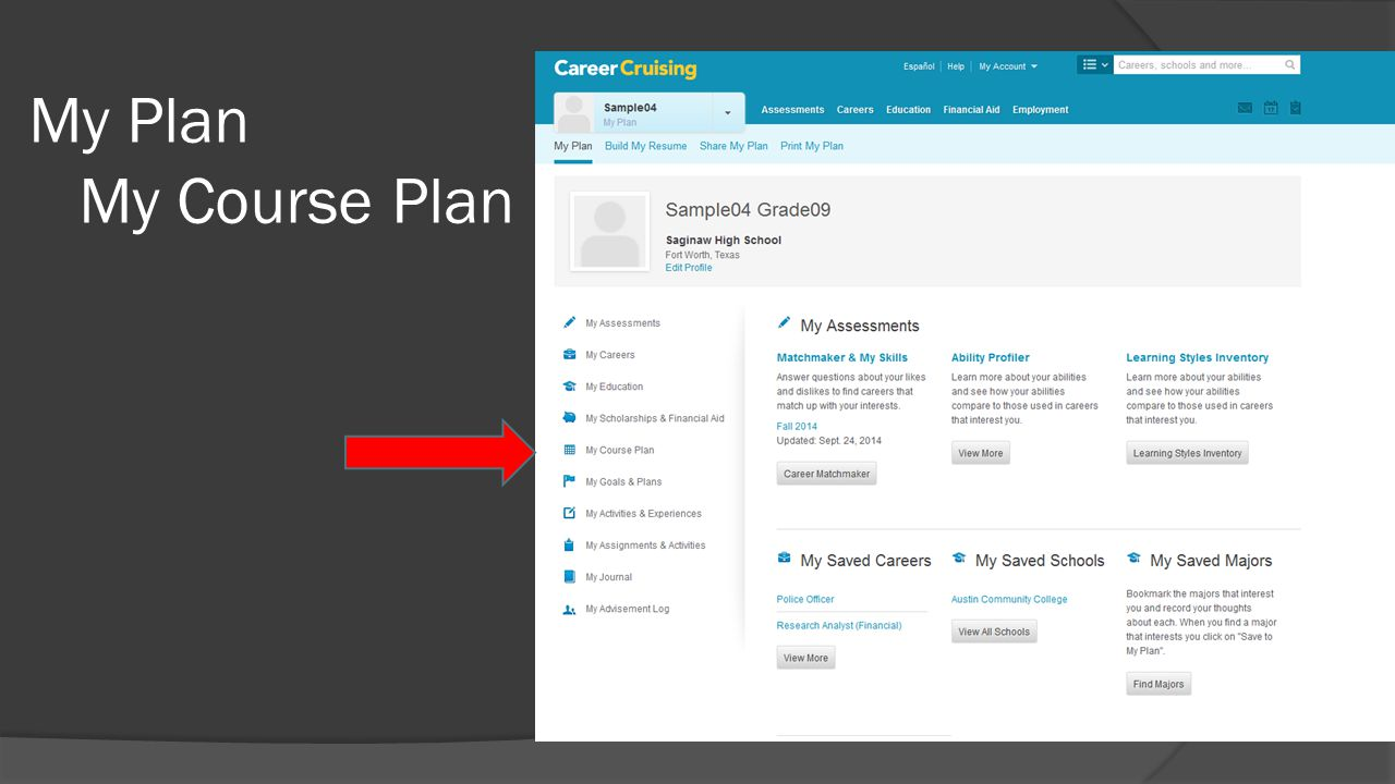 My Plan My Course Plan