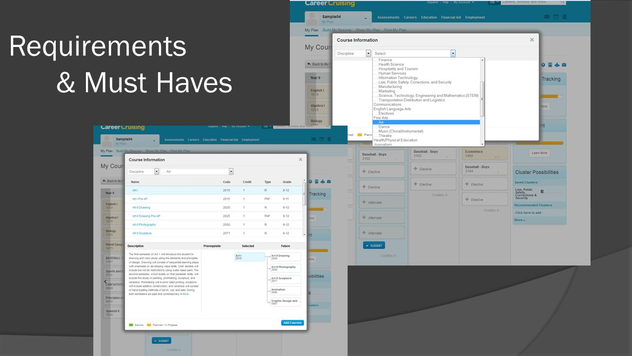 Requirements & Must Haves
