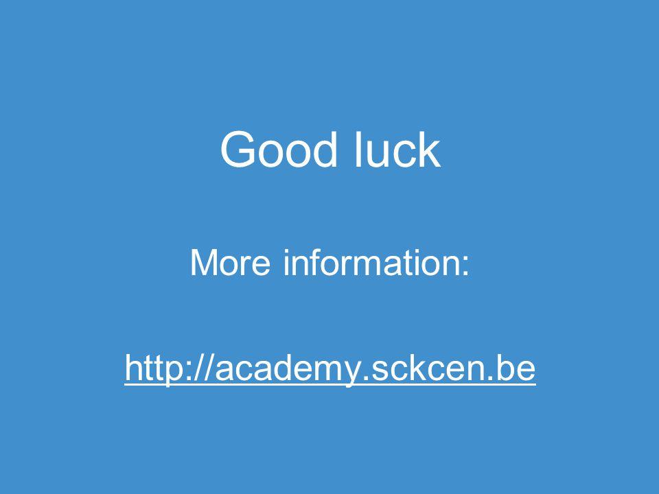 Good luck More information: http://academy.sckcen.be