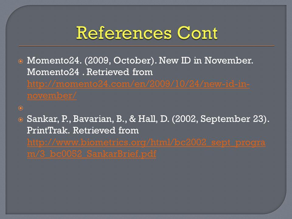  Momento24. (2009, October). New ID in November.