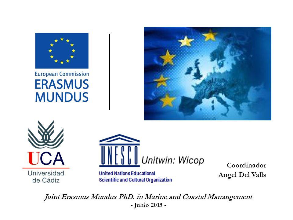 Consorcio: UNIVERSITY OF CÁDIZ, (España) (Coordinador principal), UNIVERSITY OF ALGARVE (Portugal), UNIVERSITY OF AVEIRO (Portugal), UNIVERSITY OF BOLOGNA (Italia), RUSSIAN STATE HYDROMETEOROLOGICAL UNIVERSITY (RSHU) (Rusia) Miembros asociados: ABENGOA (Spain), IPIMAR (Portugal), UNIVERSITY OF BASQUE COUNTRY (Spain), ENVIRONMENT CANADA (Canada), NINGBO UNIVERSITY (China), UNISANTA (Brazil), UNIVERSITY OF CANTABRIA (Spain), CONSIGLIO NAZIONALE DELLE RICERCHE (Italy), GOLDER ASSOCIATES (Canada), LOICZ (Germany), PROGONZ (Russia), SPB BIO RUSSIA (Russia), UNESCO (France), MINISTRY OF GENERAL ENVIRONMENT (Spain), and PORT OF HUELVA (Spain).