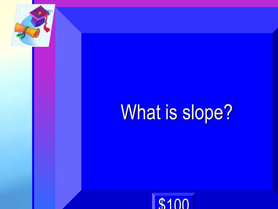 4 What is slope? $100