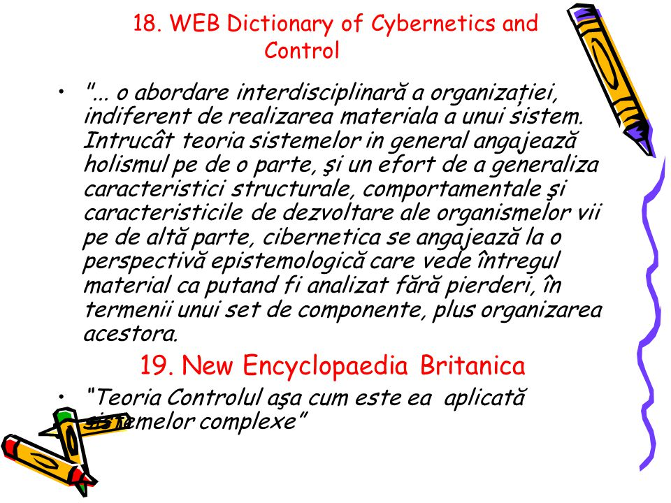 18. WEB Dictionary of Cybernetics and Control