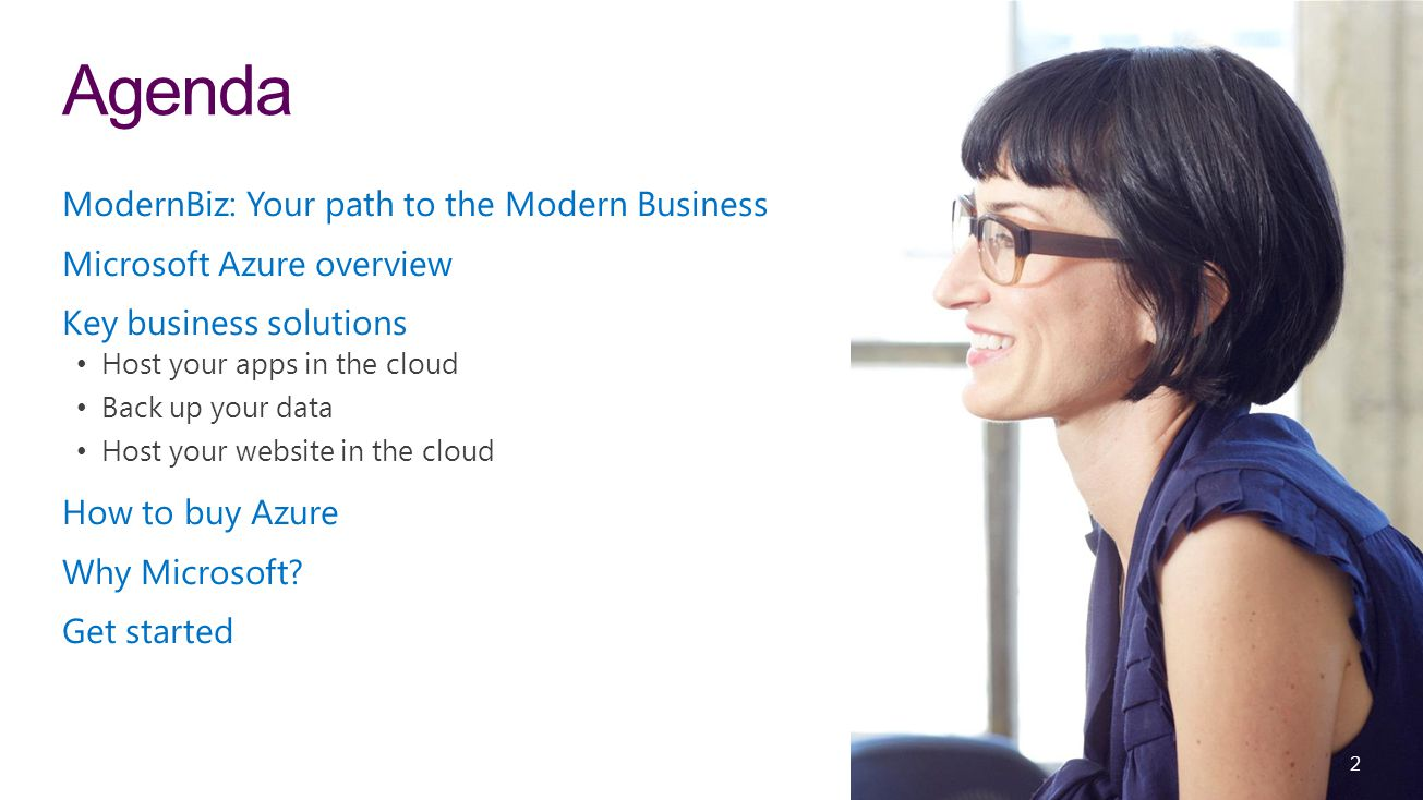 3 ModernBiz Choose your own path to modern, with flexible, familiar, and trusted solutions for your business—desktop to mobile, server to cloud.