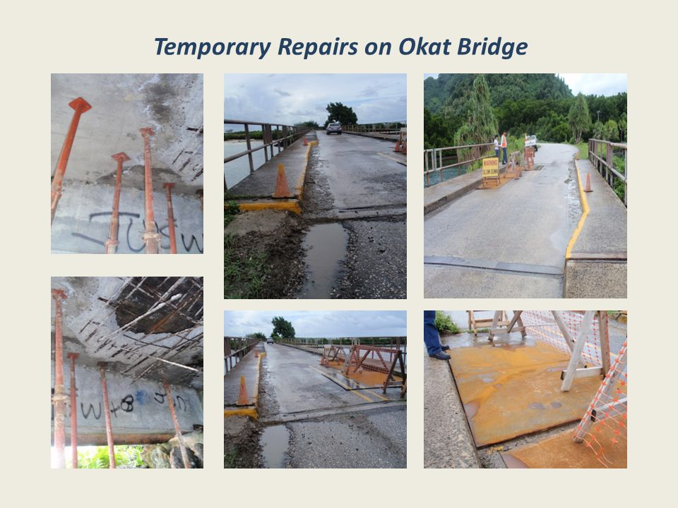 Temporary Repairs on Okat Bridge