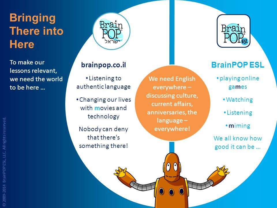 brainpop.co.il Listening to authentic language Changing our lives with movies and technology Nobody can deny that there s something there.