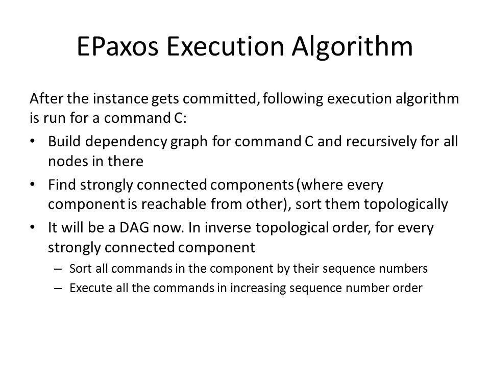 Execution A C DE B Strongly Connected Components E D C,A,B 1 2 3