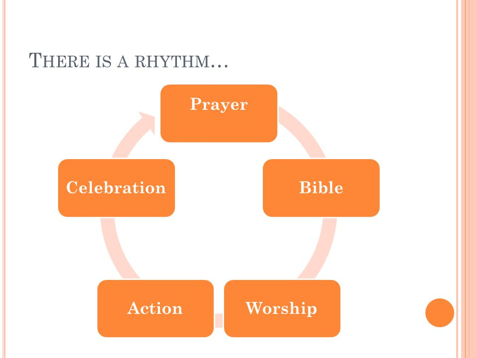 T HERE IS A RHYTHM … Prayer BibleWorshipActionCelebration