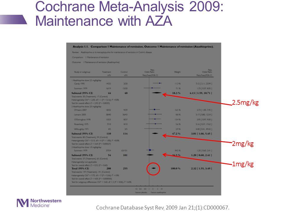 Cochrane Meta-Analysis 2009: Maintenance with AZA Cochrane Database Syst Rev.