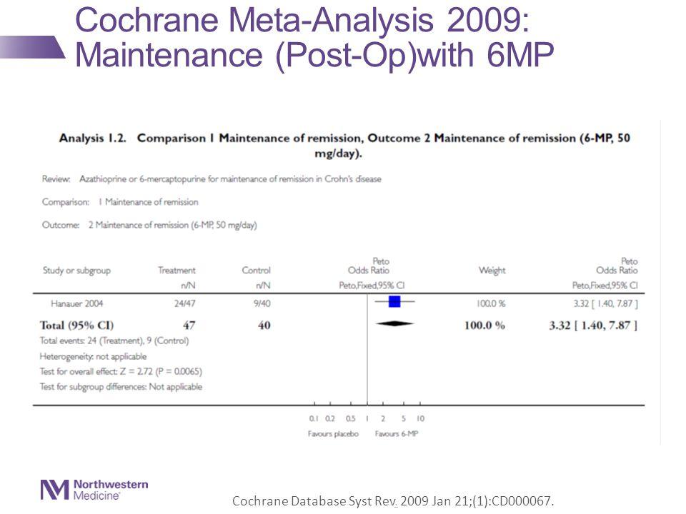 Cochrane Meta-Analysis 2009: Maintenance (Post-Op)with 6MP Cochrane Database Syst Rev.