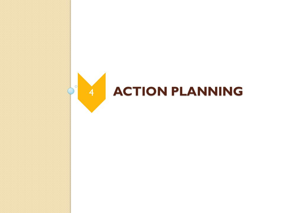 ACTION PLANNING ACTION PLANNING 4