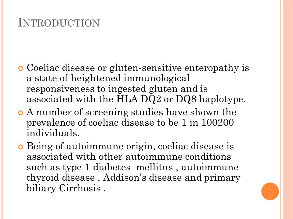 Although coeliac disease and IBD do not share similar HLA haplotypes there may be other, as yet undetermined, genetic factors.Cottone et al.