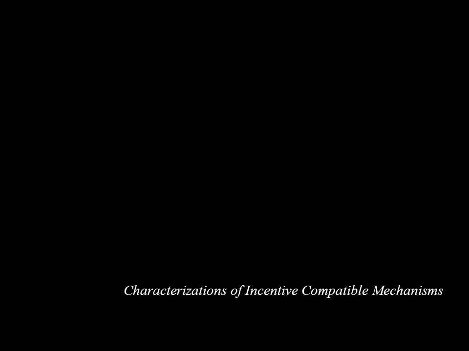 Characterizations of Incentive Compatible Mechanisms