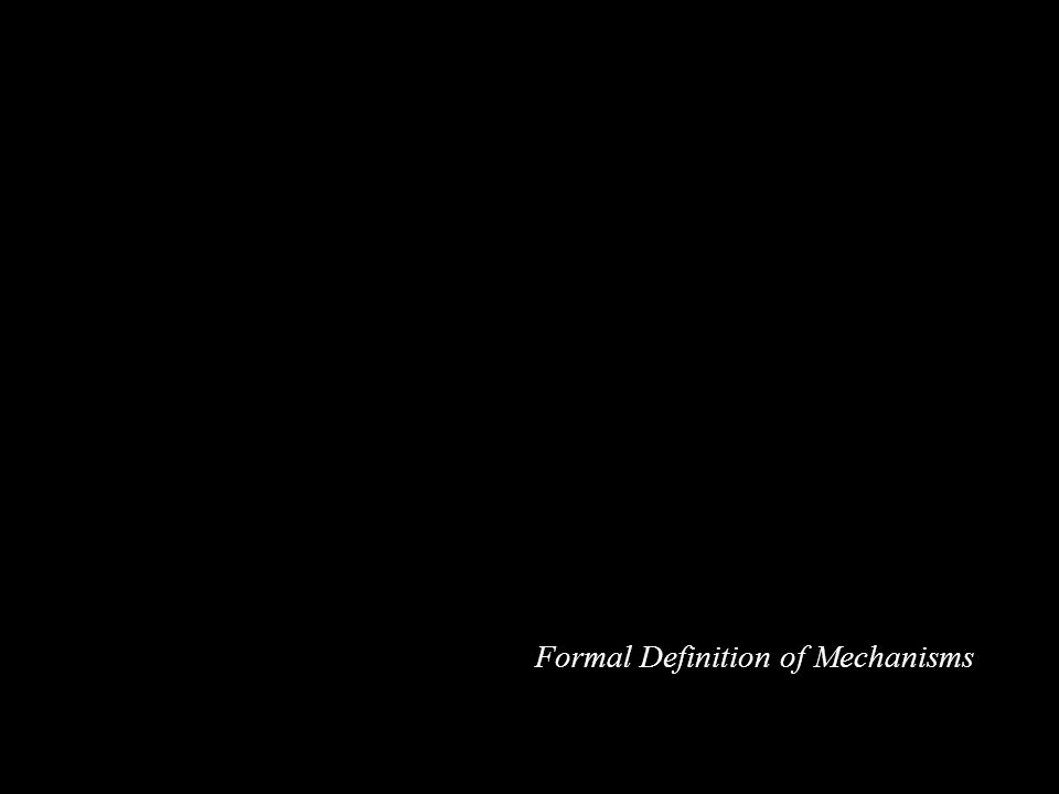 Formal Definition of Mechanisms