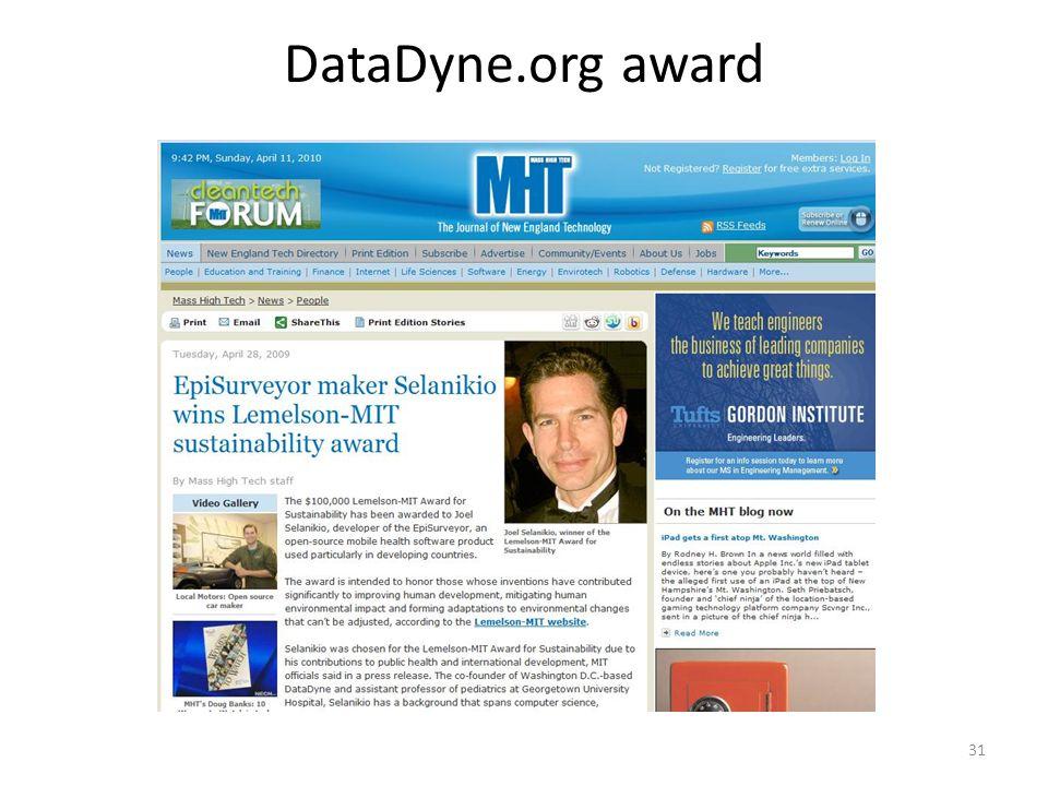 DataDyne.org award 31