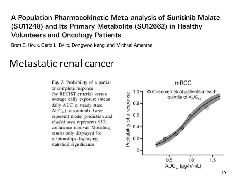 Metastatic renal cancer 19