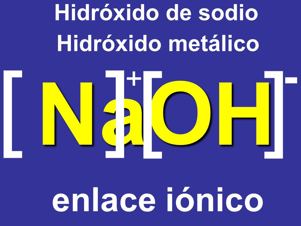 Ca(OH) 2+ 1– 2 1 hidróxido de calcio