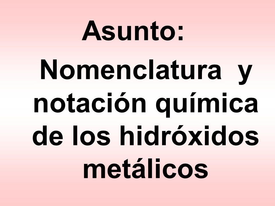 Al(OH) 3+ 1– 3 1 hidróxido de aluminio