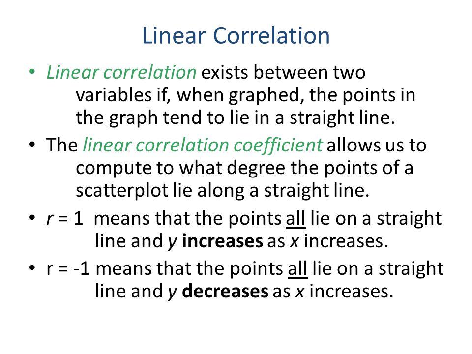 Linear Correlation cont.