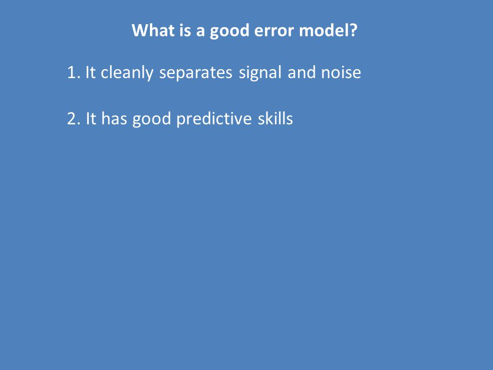 1.It cleanly separates signal and noise 2.