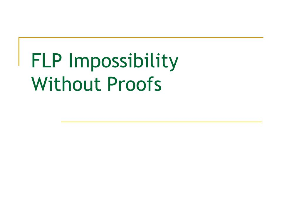 FLP Impossibility Without Proofs