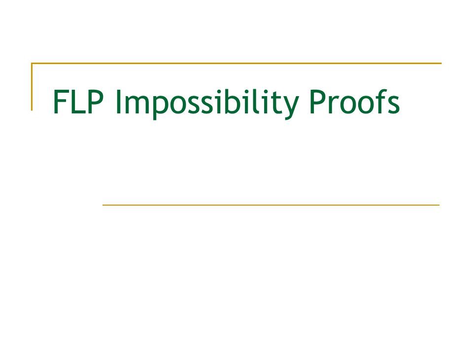 FLP Impossibility Proofs
