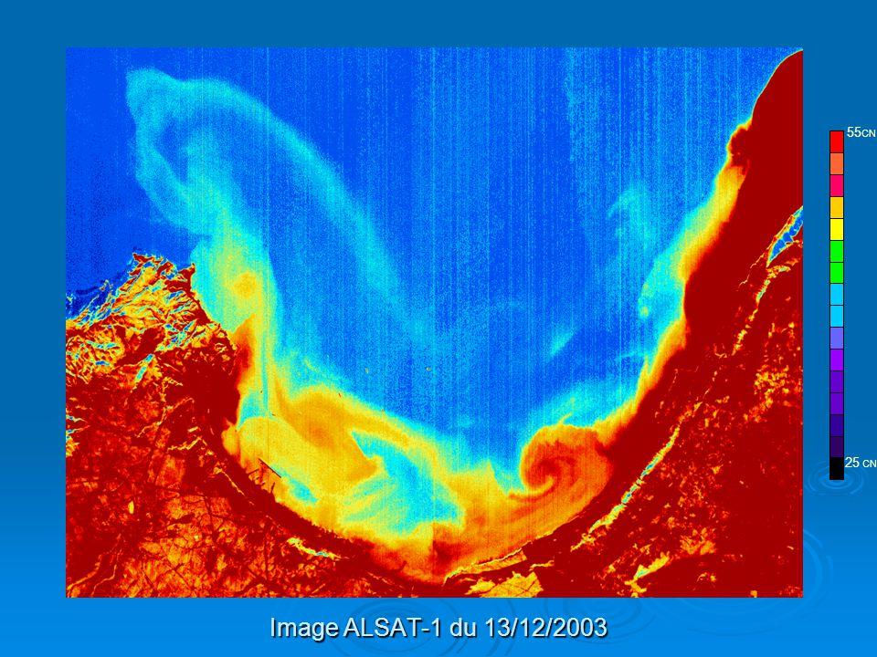 Image ALSAT-1 du 13/12/2003 ALSAT-1 25 CN 55 CN