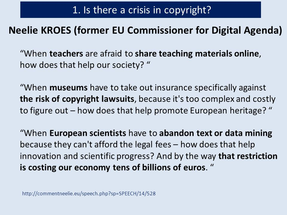 What are the reasons for the copyright crisis.