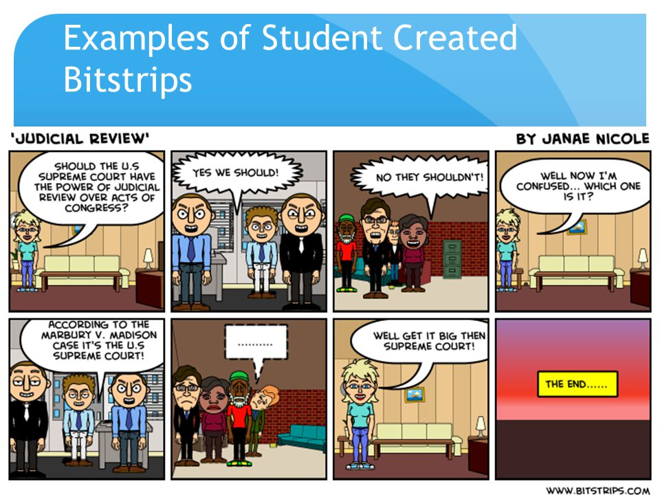 Examples of Student Created Bitstrips