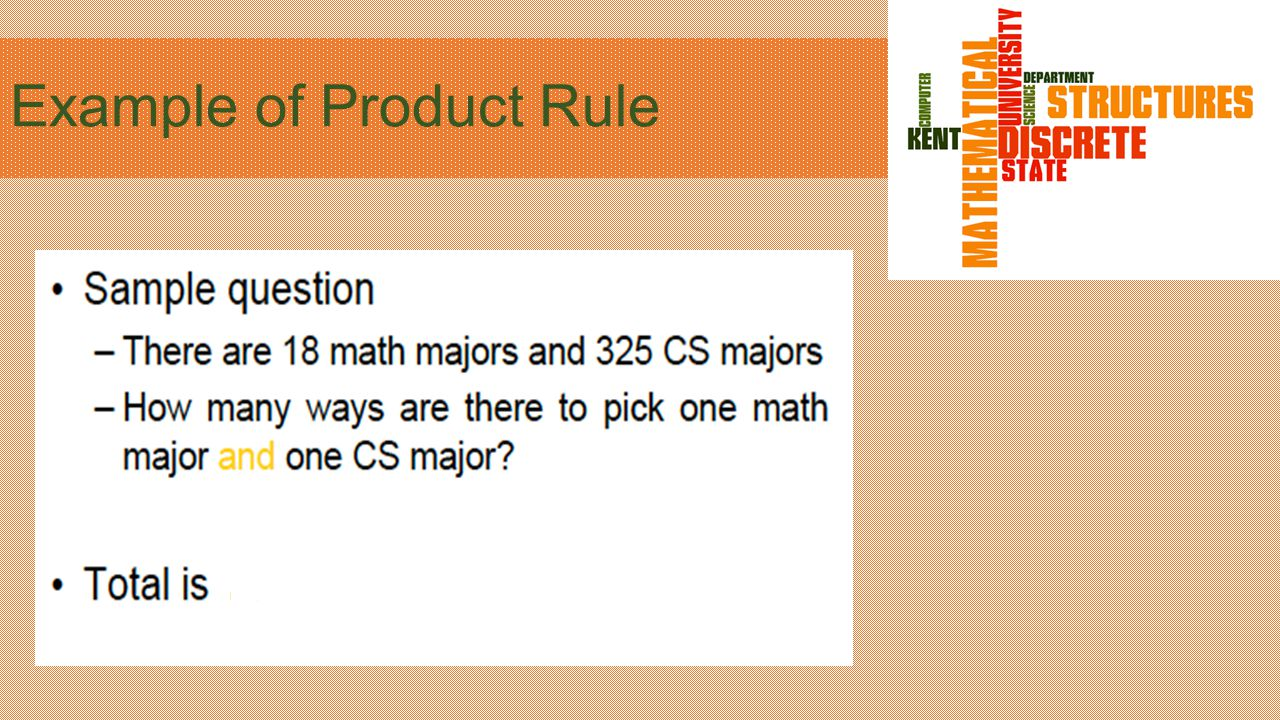 Product Rule How many functions are there from set A to set B.