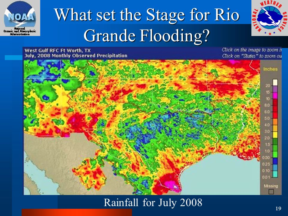 What set the Stage for Rio Grande Flooding Rainfall for July