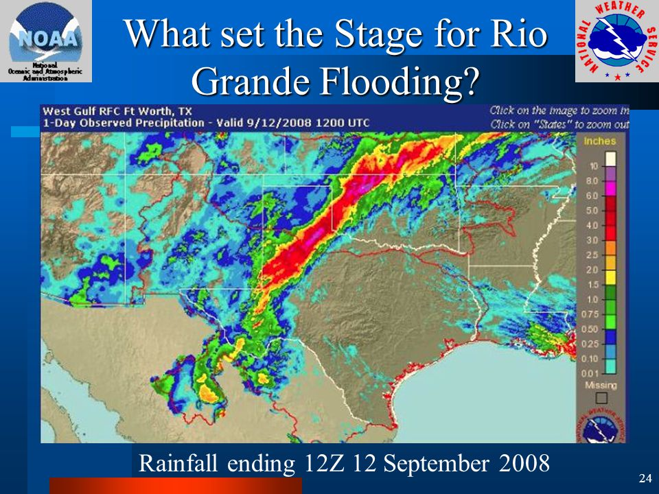 What set the Stage for Rio Grande Flooding Rainfall ending 12Z 12 September