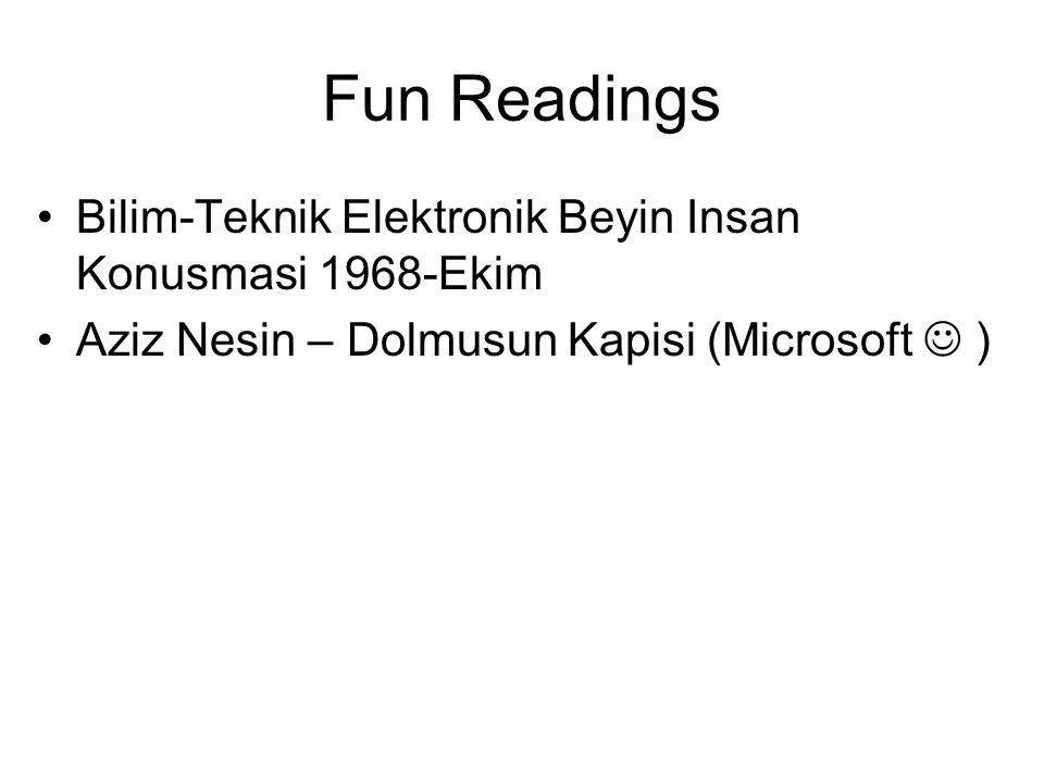 Fun Readings Bilim-Teknik Elektronik Beyin Insan Konusmasi 1968-Ekim Aziz Nesin – Dolmusun Kapisi (Microsoft )