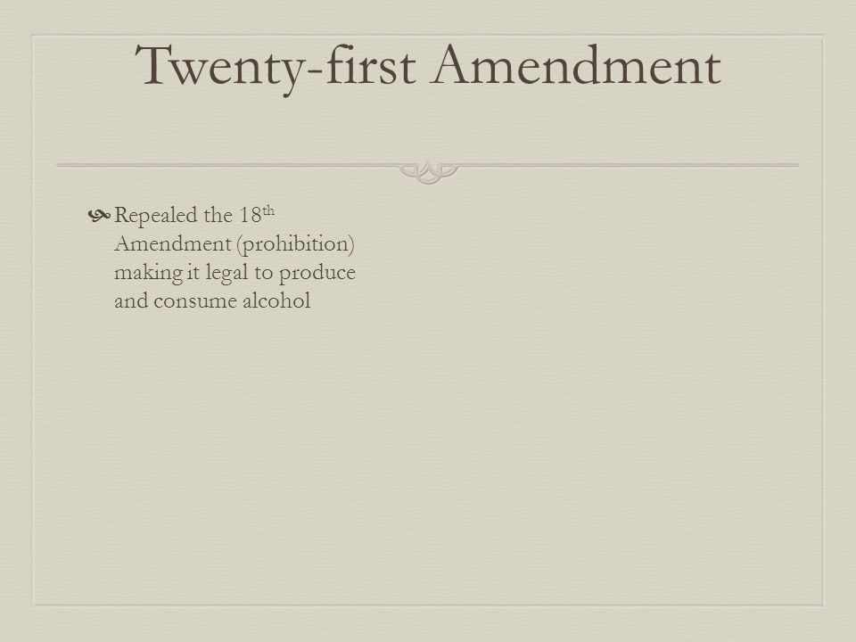 Why was the 21 st Amendment passed.