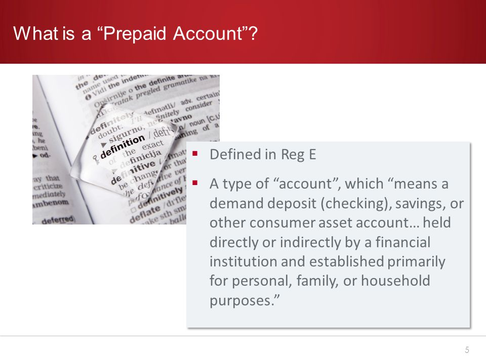 What is a Prepaid Account .