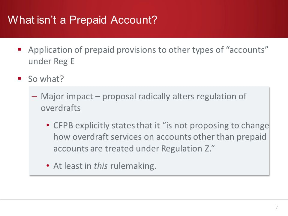 What isn't a Prepaid Account.
