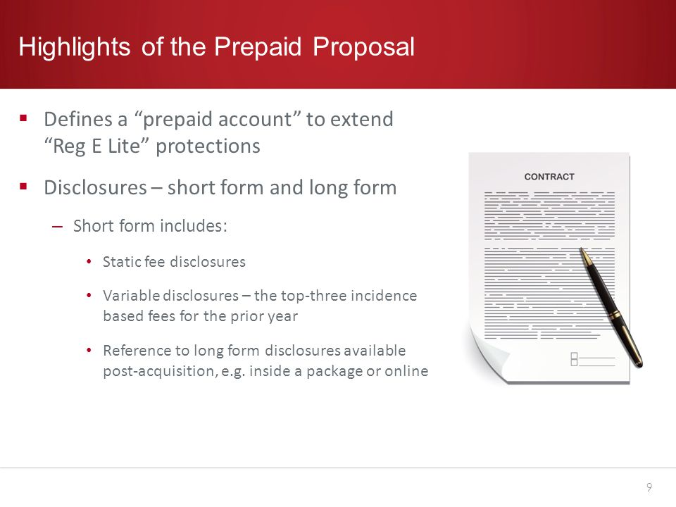 Model Form for Short Form Disclosures for Prepaid Accounts With Overdraft and Other Credit Features 10