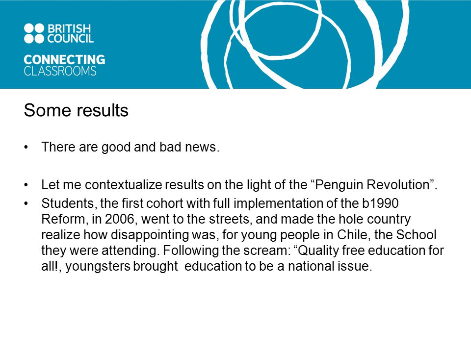 "Some results There are good and bad news. Let me contextualize results on the light of the ""Penguin Revolution"". Students, the first cohort with full"