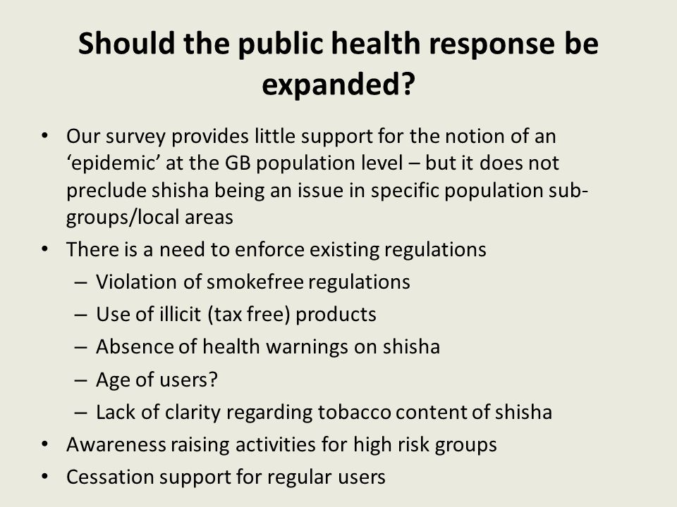 Should the public health response be expanded? Our survey provides little support for the notion of an 'epidemic' at the GB population level – but it