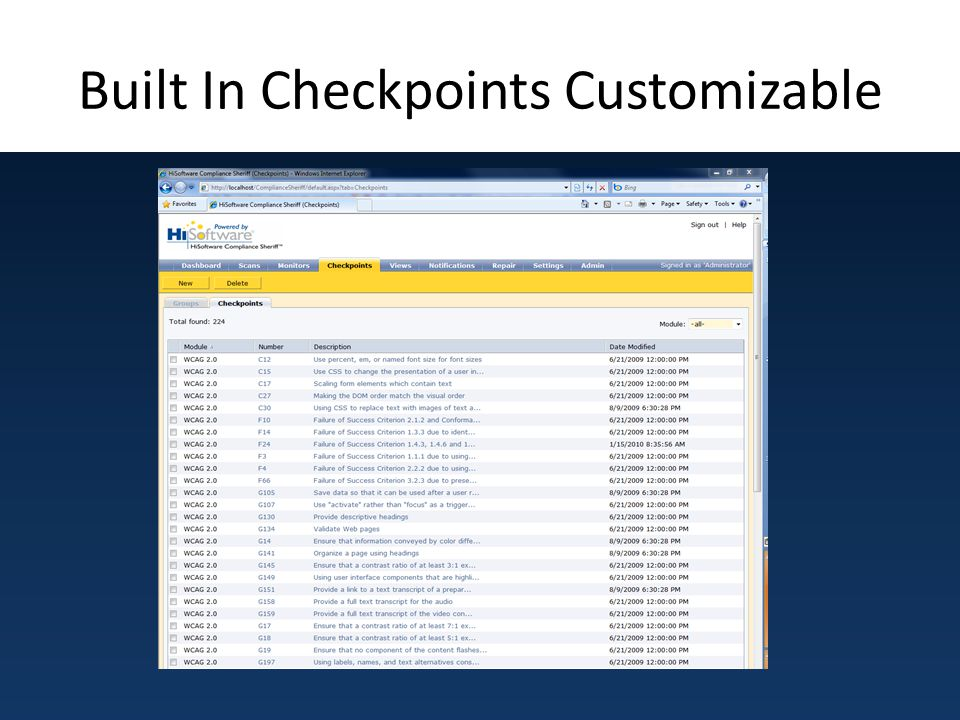 Built In Checkpoints Customizable