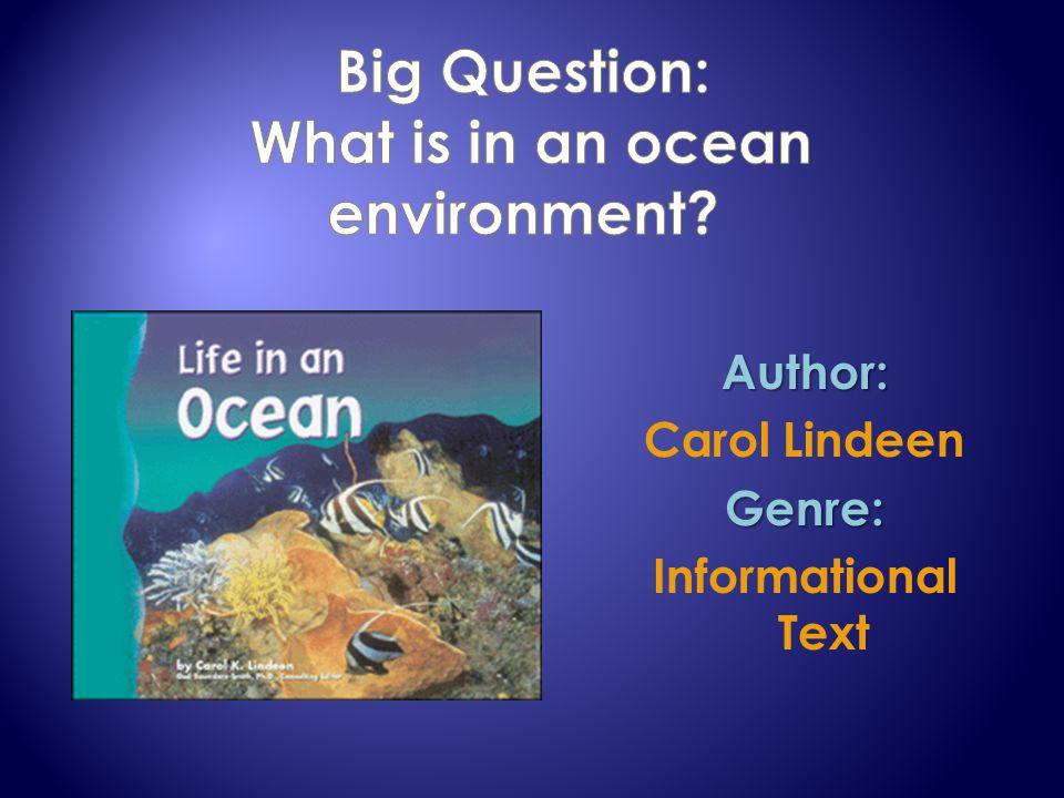 Author: Carol LindeenGenre: Informational Text